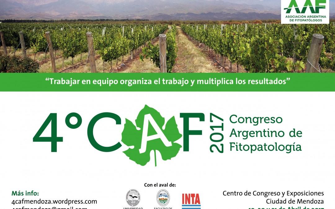 ATENCIÓN-Prórroga de Inscripción.   4°CONGRESO ARGENTINO DE FITOPATOLOGIA-2017