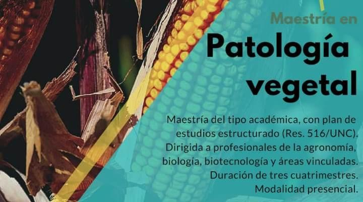 Maestría en Patología Vegetal. FCA-UNC