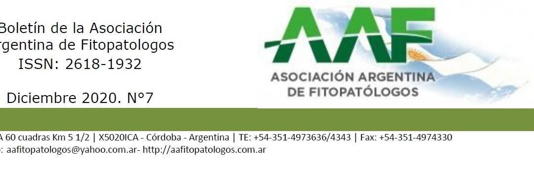 Boletín Fitopatológico Nº8. Junio 2021